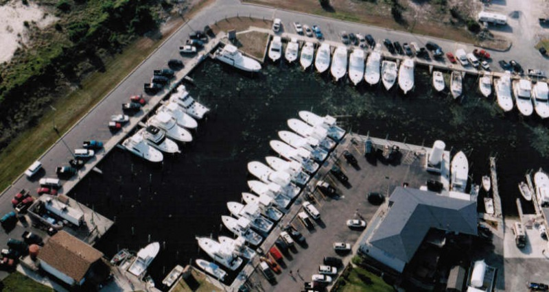 Aerial View of Hatteras Harbor Marina